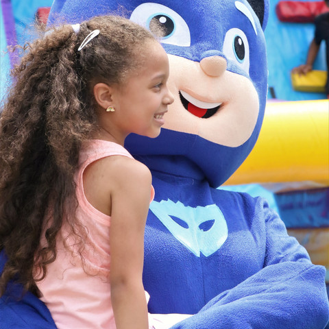 Alyssa enjoying cartoon characters at Beyond Basic Learning Academy