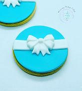 Tiffany Blue & White Bonbonniere Cookies