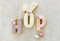 H O P Stamped Fondant Easter Cookies