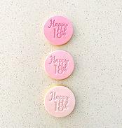 18th Cookies Trio Pink Shades Cookies