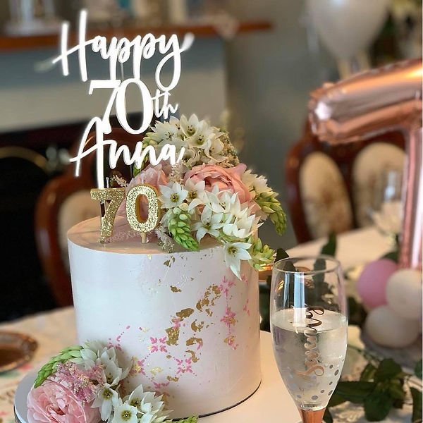 70th Soft Pink with Fresh Florals in Par