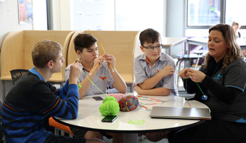 RJHS Students Knitting for NICU