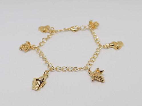 Bracelet Breloque Seaux et Grappes