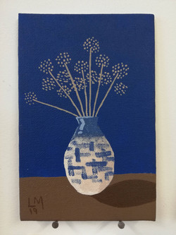 'Vase of Seed Heads'
