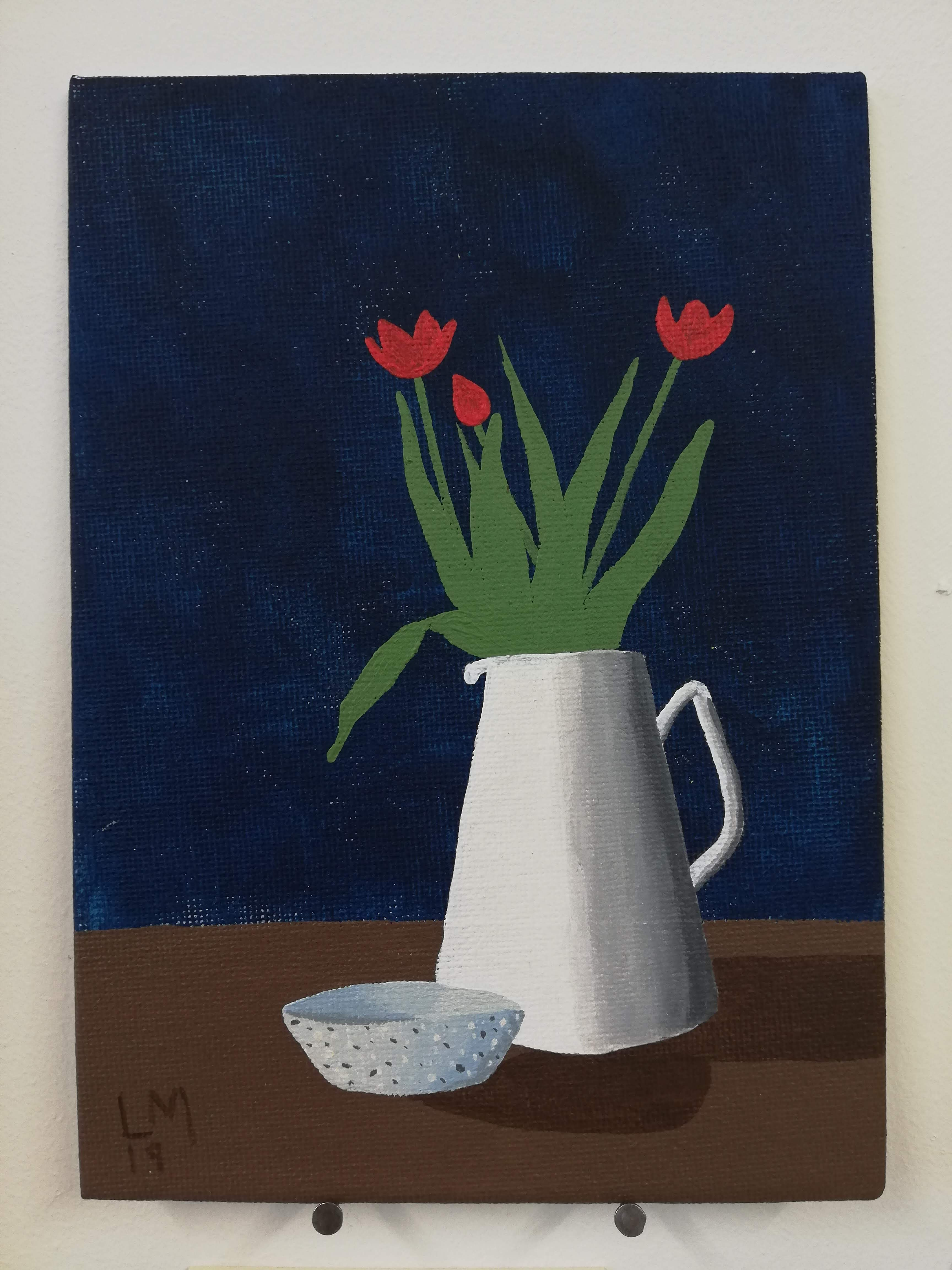 'Tulips in a Jug with a Bowl'