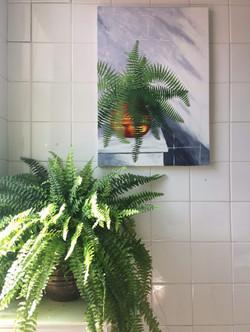 'Fern in a Bathroom'