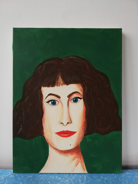 'Portrait on Green'