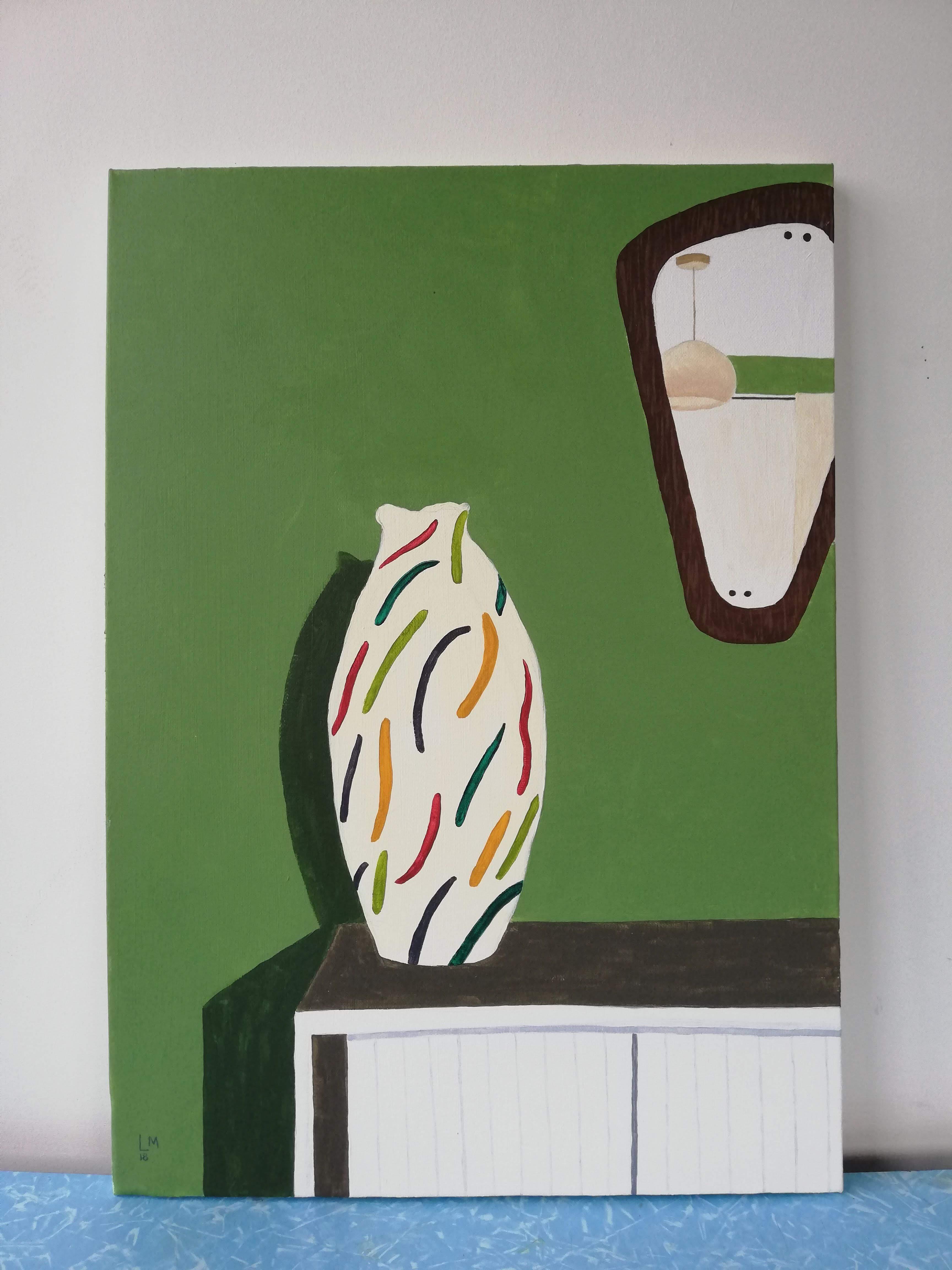 'Vase in a Bedroom'