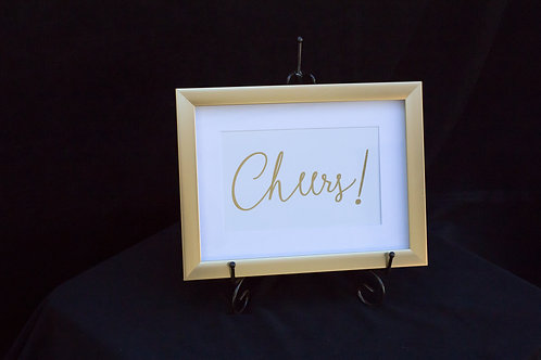 Cheers Framed Sign