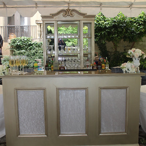6' Champagne Gold Barfront with Pearl Lucite Insets