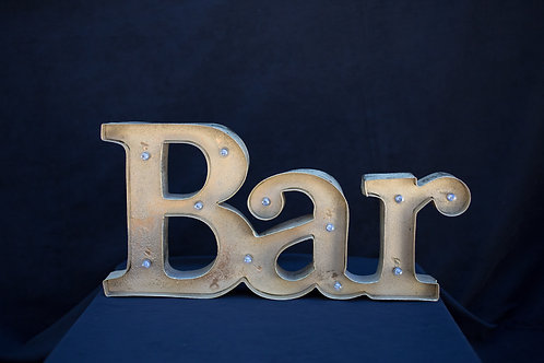 Bar Word Sign