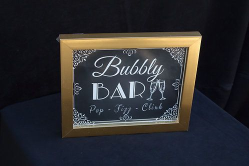 Bubbly Bar Framed Sign