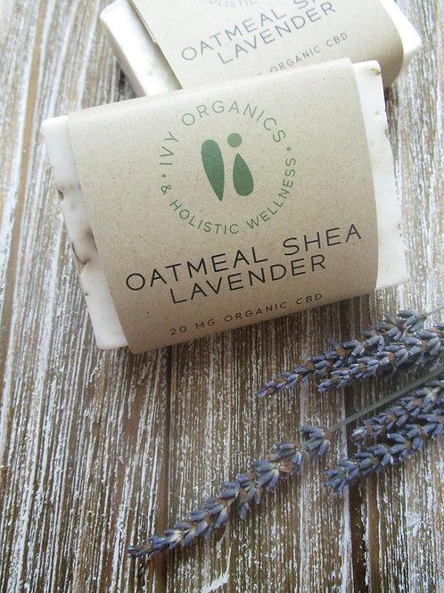 CBD Oatmeal Shea Soap with Lavender
