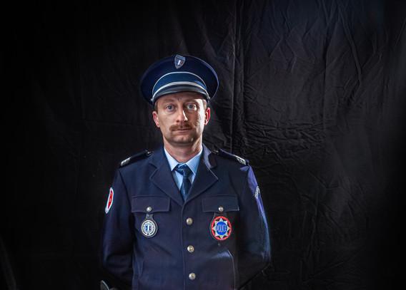 Policier en tenue hiver 1985 à 2005