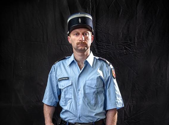 Gendarme tenue été de 1985 à 2005