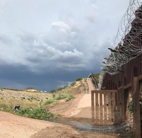 U.S./Mexico border wall, Nogales, AZ - July 2019.jpg