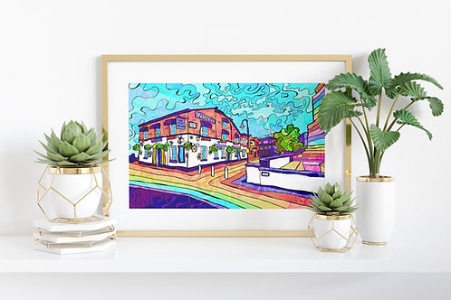 Manchester Gay village Art Print