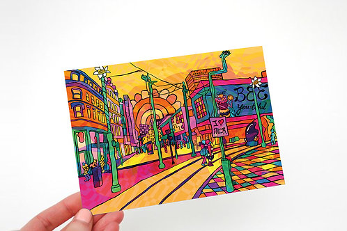 Manchester City Psychedelic Postcard