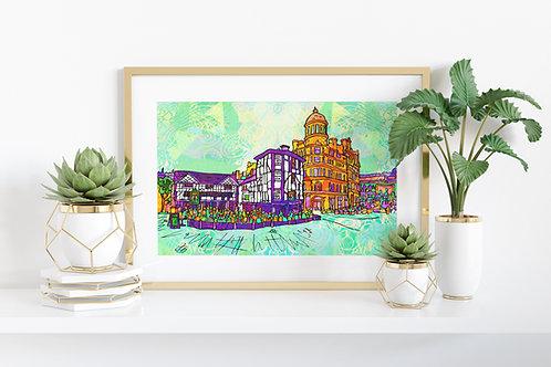 Manchester Shambles Square Art Print
