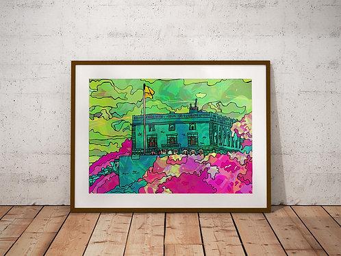 Nottingham Castle Psychedelic Art Print