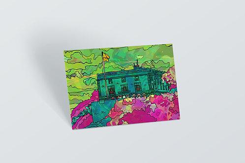 Nottingham Castle Psychedelic Postcard
