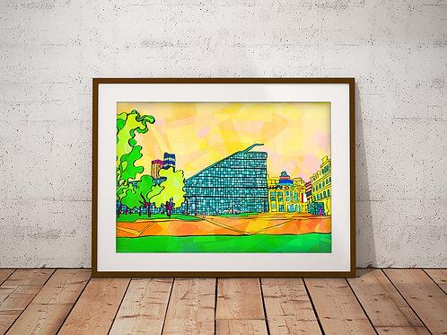 Manchester Football Museum Art Print