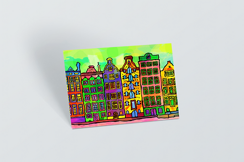 Amsterdam Psychedelic Postcard