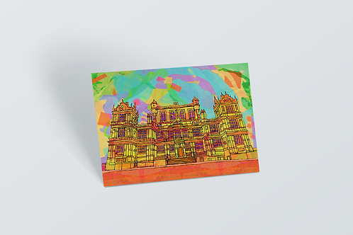 Nottingham Wollaton Hall Psychedelic Postcard