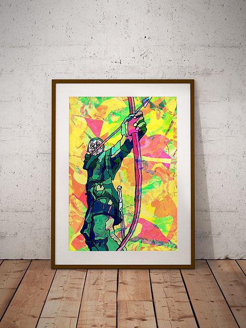 Robin Hood Nottingham Art Print