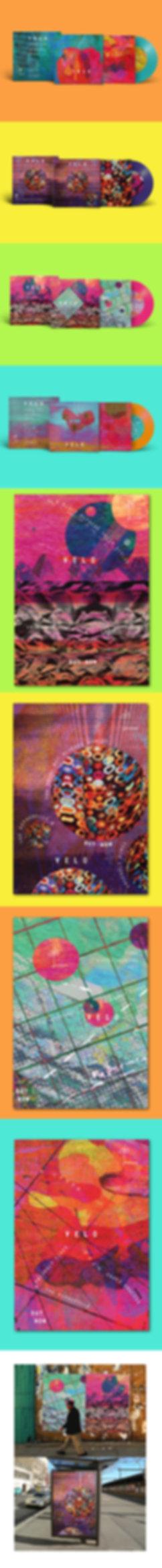 Velo - Telophase - Studio Intro Brief Vinyl album cover design concept by Jasmin Issaka Graphic designer & illustrator
