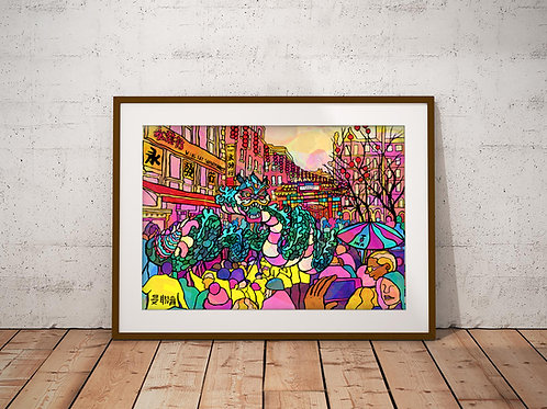 Manchester China Town Chinese new year Parade Art Print