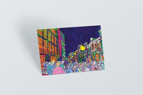 Nottingham Broadstreet Psychedelic Postcard