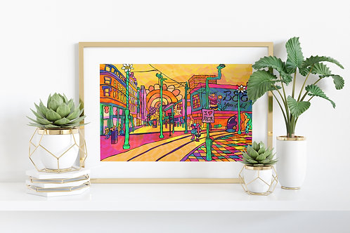 Manchester City Centre Arndale Art Print