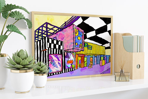 Manchester Hatch Psychedelic Art Print