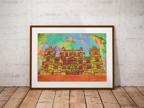 Wollaton Hall Psychedelic Art Print