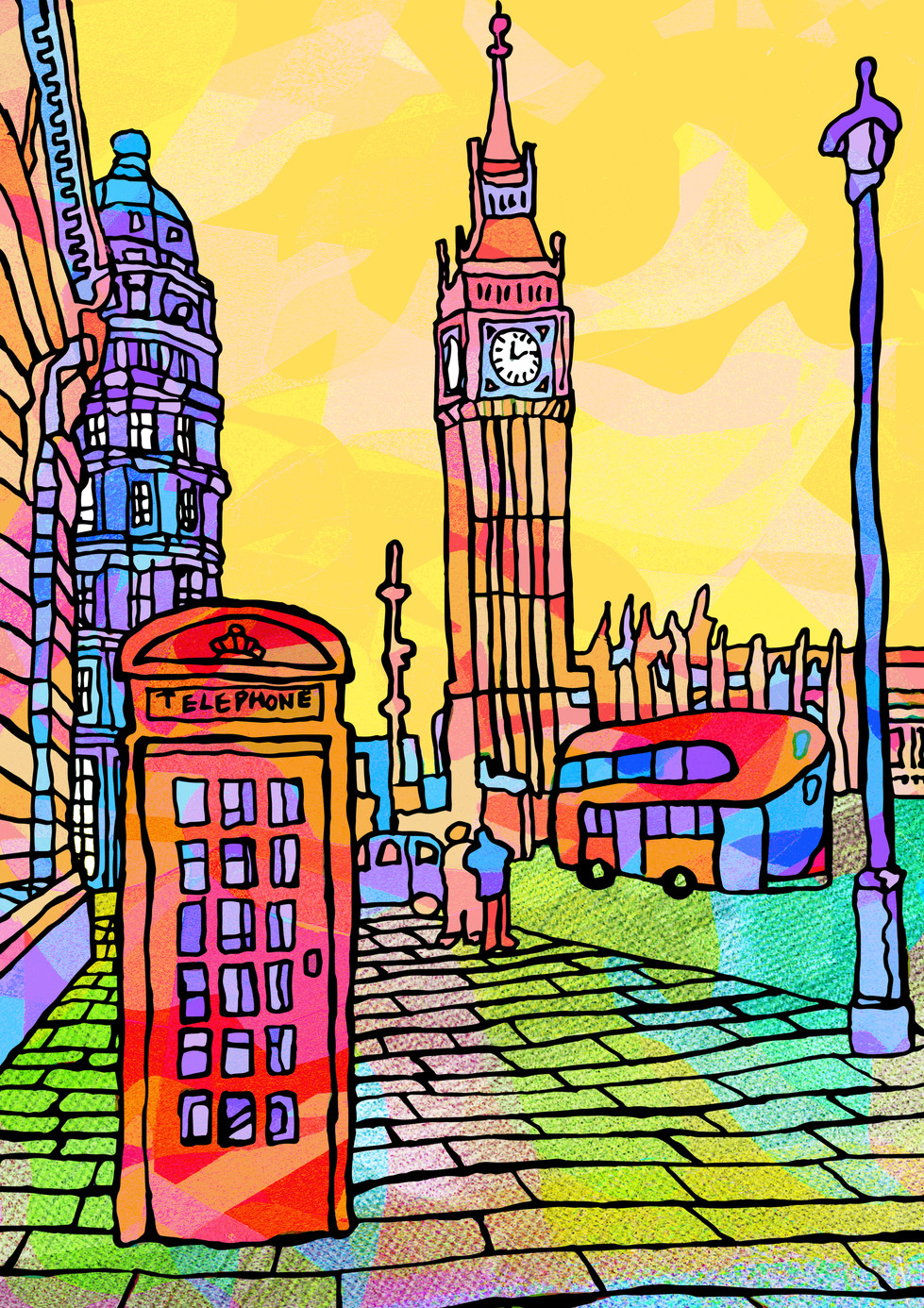 London Telephone Booth Illustration 1.jp