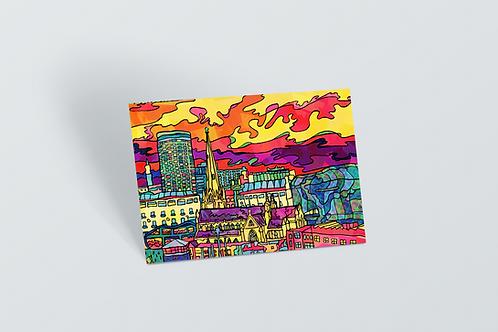 Birmingham Psychedelic Postcard