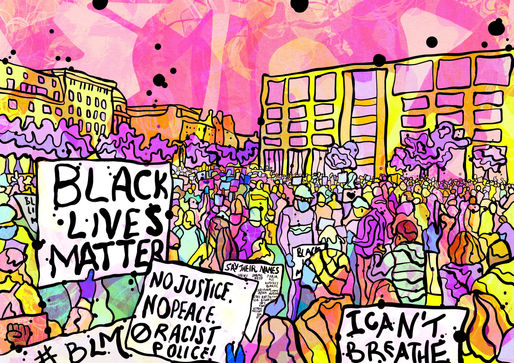 BLM march Psychedelic illustration.jpg