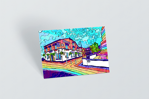 Manchester Gay Village Psychedelic Postcard