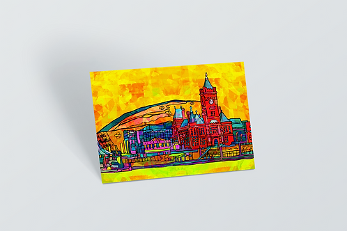 Cardiff Psychedelic Postcard