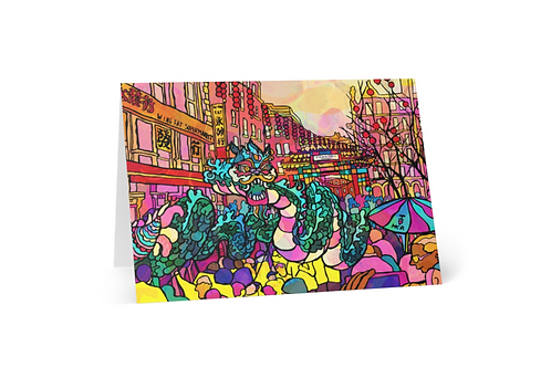 Greeting Card of Manchester China Town Illustration
