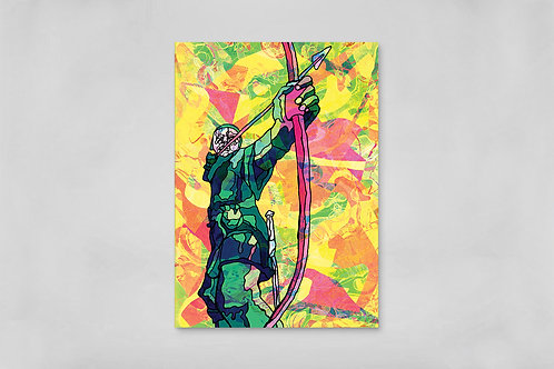 Robin Hood of Nottingham Psychedelic Postcard