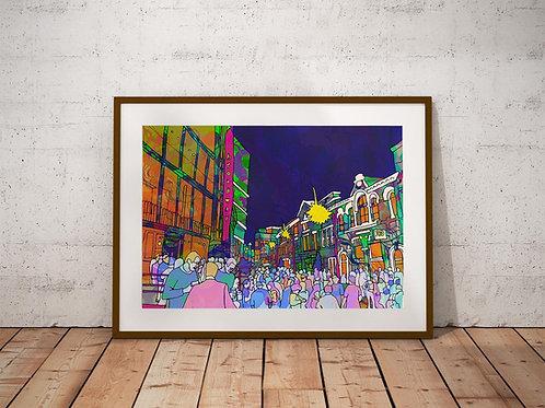 Urban City Festival Psychedelic Art Print