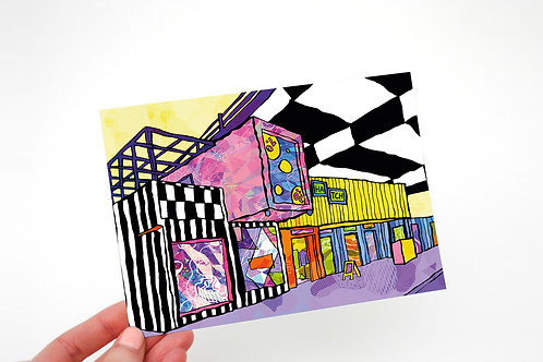 Manchester Hatch Psychedelic Postcard