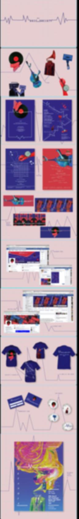 NTU Music society 2015 visual brand identity design presentation by Jasmin Issaka graphic designer