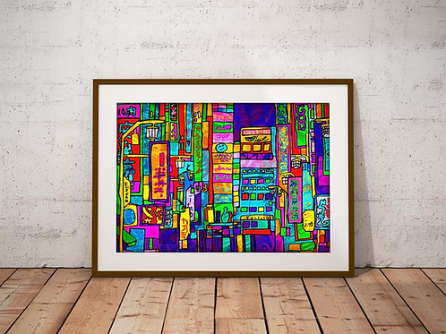 Tokyo Psychedelic Art Print
