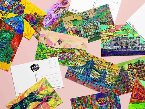Psychedelic Postcard Pack Set