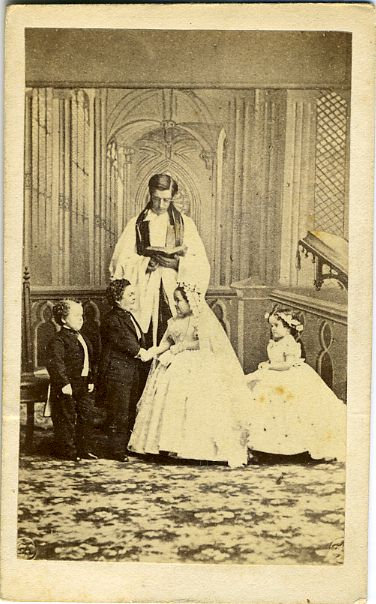 CIRCUS - SIDESHOW -TOM THUMB AND LAVINIA WEDDING - CDV