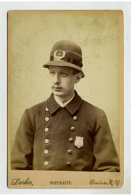 CABINET CARD – POLICEMAN - ELMIRA, NY