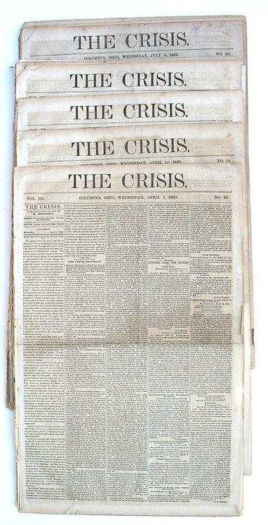"CIVIL WAR COPPERHEAD NEWSPAPER - THE CRISIS. """